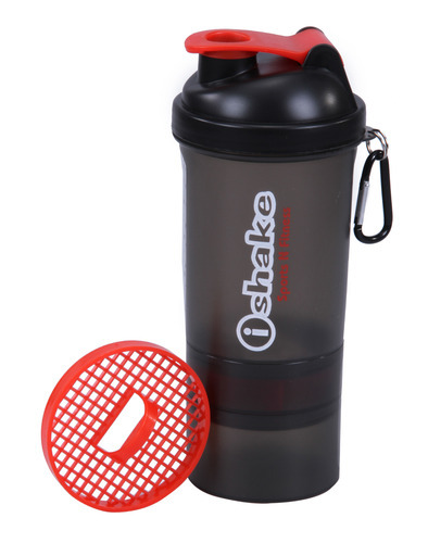 IShake Black Smart Cup Shaker Bottle, Capacity: 600 Ml, Packaging Type: Cartoon Package