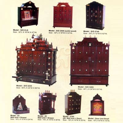 Attractive Divine Home Modular Pooja Room Cabinet