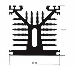 Aluminium Square Type Heat Sink