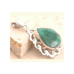 Sparkling Dyed Emerald Pendant