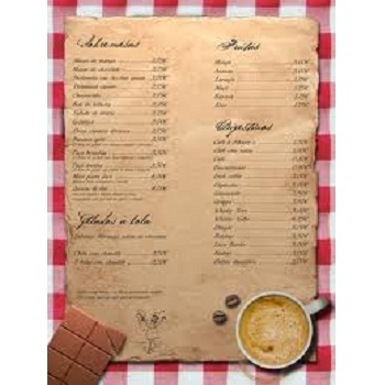 Menu Card View Specifications Details Of Menu Card By Mehta