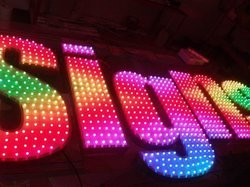 LED Multi Color Functioning Signages