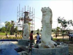 Marble Mar Lion Statue