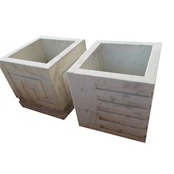 Gwalior Mint Stone Gray Square Planter