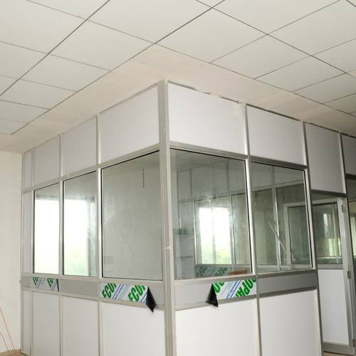 Aluminum Glass Partitions And Grid Ceiling