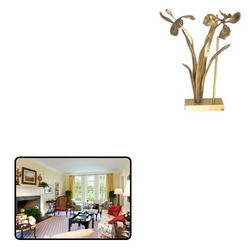 Brass Floral Lamp for Decoration