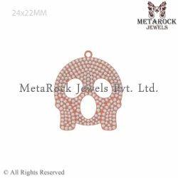 14k Gold White Diamond Pendant