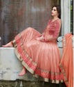 Silk Semi-stitched Anarkali Designer Suit