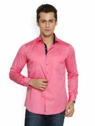 Formal Shirt - Teemper Men Pink Casual Shirt Exporter from Mumbai