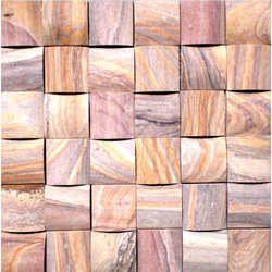 Rainbow Sandstone 3D Mosaic Tiles