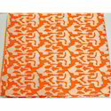 Orange Kantha Quilt