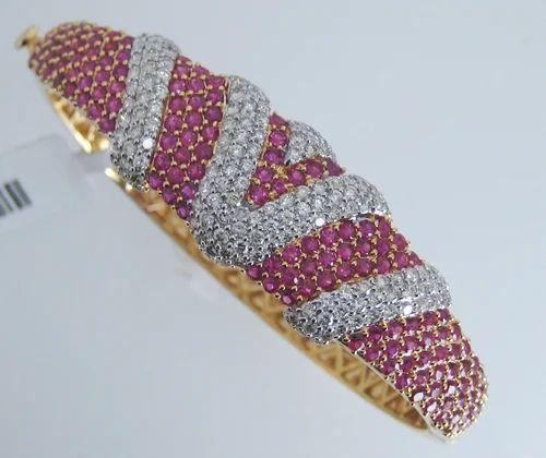 d385374800322 Trendy Ruby-Diamond Bracelet | Jewels Of Jaipur | Exporter in ...