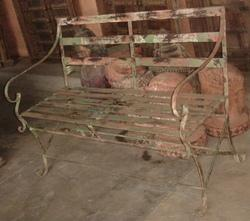 Iron Painted Bench