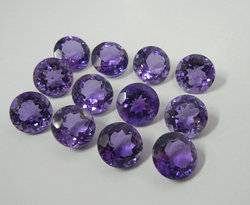 Natural Amethyst Round Faceted Gemstone