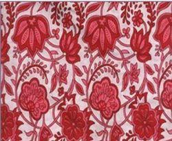 Hand Block Red Fabric