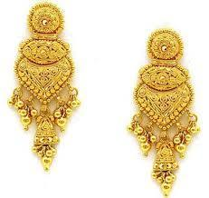 buy mango jhumki earrings indian south jhumka tear drop golden dp