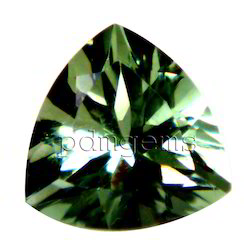 Green Amethyst Trillion Gemstone