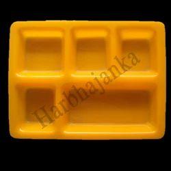 Acrylic 5 Portion Thali