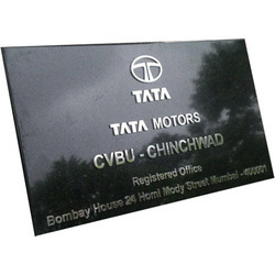 Black And Brown Marble Signage