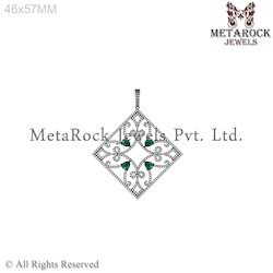 Emerald Gemstone Diamond Pendant