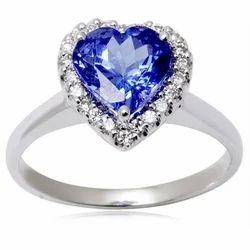 Heart Shaped Gemstone Gold Ring