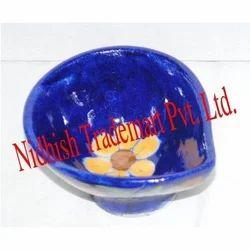 Blue Pottery Decorative Diya