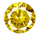Cubic Zirconia Yellow Gemstone