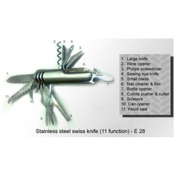 Stainless Steel Swiss Knife