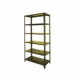Mild Steel Harihar 6 Shelves Slotted Angle Rack, For Supermarket