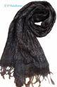 Black Hand Loom Silk Stole