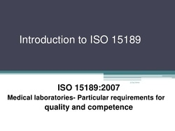 ISO 15189:2003 Consultancy Services