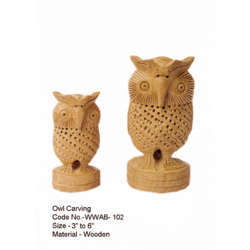 Wooden Owl Carving