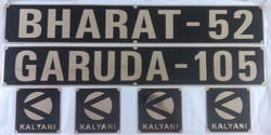 Brass Name Plates for Army Vehicles