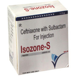 Isozone-S 375 Vial ( Ceftriaxone 250 Mg Sulbactum 125 Mg )