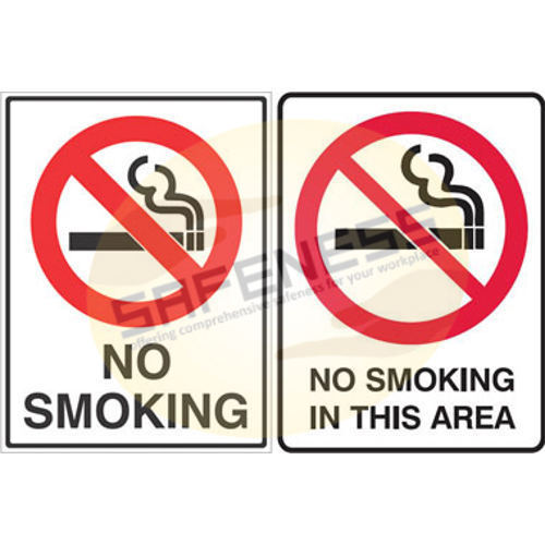 Red On White No Smoking Signs Safeness Quotient Limited Id