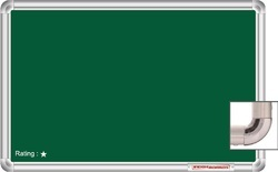 green chalk writing board