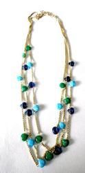 Blue Green Golden Imitation Necklace