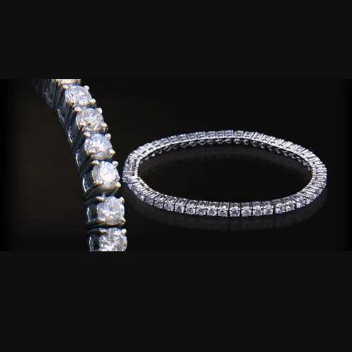 Single Line Loose Diamond Bracelet