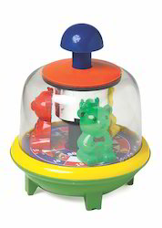 Push N Spin Toy Bear