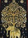 Elephant Tree Bohemian Tapestry