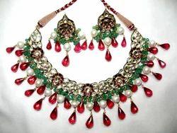 Ruby Emerald Polki Set