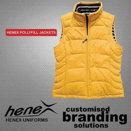 44c1c90f8bf2e Henex Yellow Polyester Half Jacket