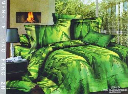 Green Colour Bed Sheet