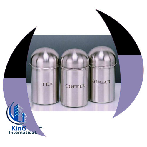King International Any Color Steel Tea Coffee Sugar Container Capacity Standard