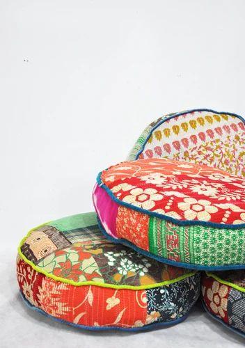 Vintage Kantha Floor Cushion