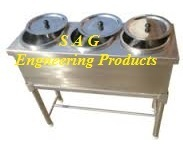 3 Round Compartment Bain Marie