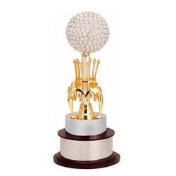 Crystal Ball Metal Trophy