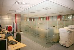 Transparent Fixed Frame Less Toughened Glass Partition for Office