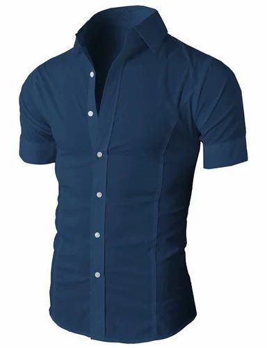 e9e05ac5d Mens Wrinkle Free Slim Fit Dress Short Sleeve Shirts, छोटी ...