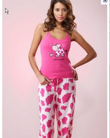 Cotton Pink Printed Sleepwear Pyjama cbe3a6386